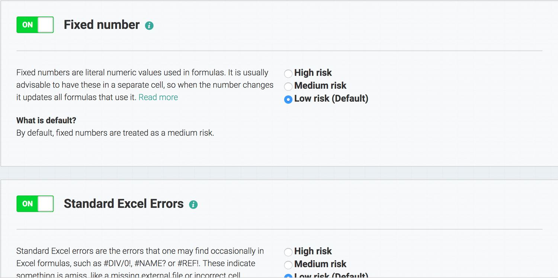 Customization of Spreadsheet Analysis :: PerfectXL