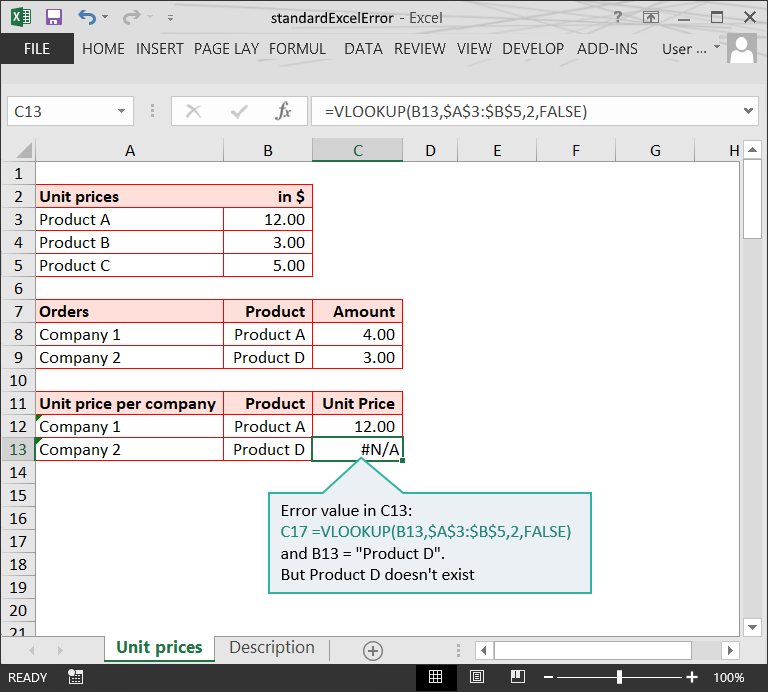 Standard Excel Errors :: Calculation Doubts :: Risk Detection :: PerfectXL