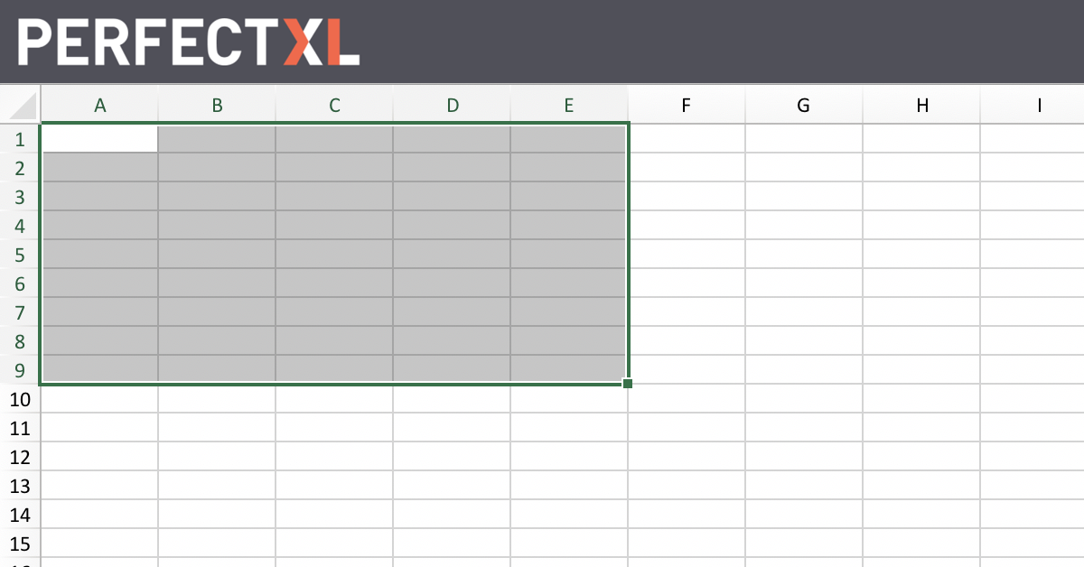 What Is A Cell Range Excel Glossary Perfectxl