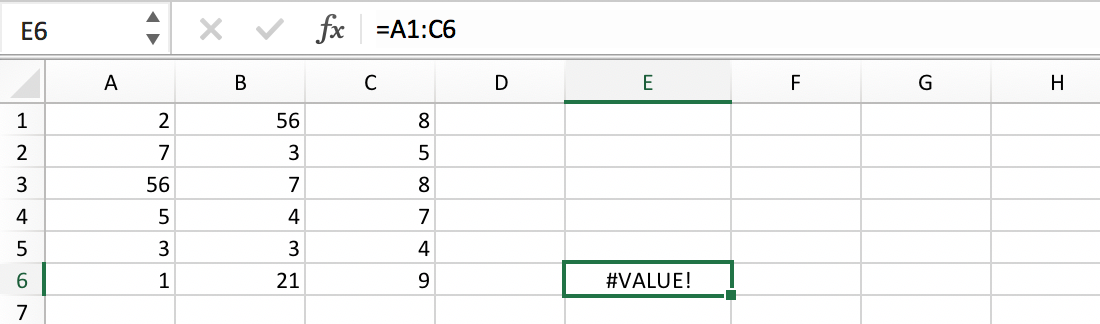 Reference to a Cell Range :: Excel Glossary :: PerfectXL Spreadsheet Validation Tool