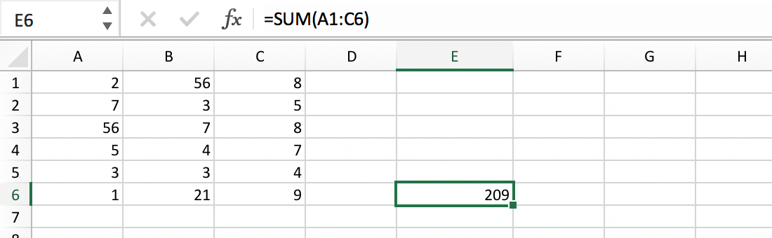 Reference to a Cell Range Example :: Excel Glossary :: PerfectXL Spreadsheet Validation Tool