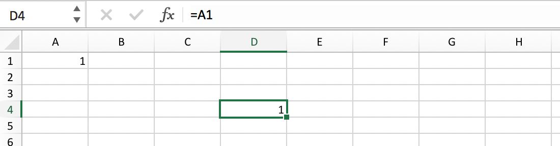 What is a Cell Reference :: Excel Glossary :: PerfectXL Spreadsheet Validation Tool