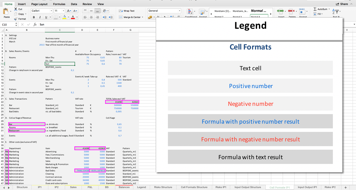 Tutorial Reports - Export Excel - Cell Format Mapping :: PerfectXL Spreadsheet Validation Tool