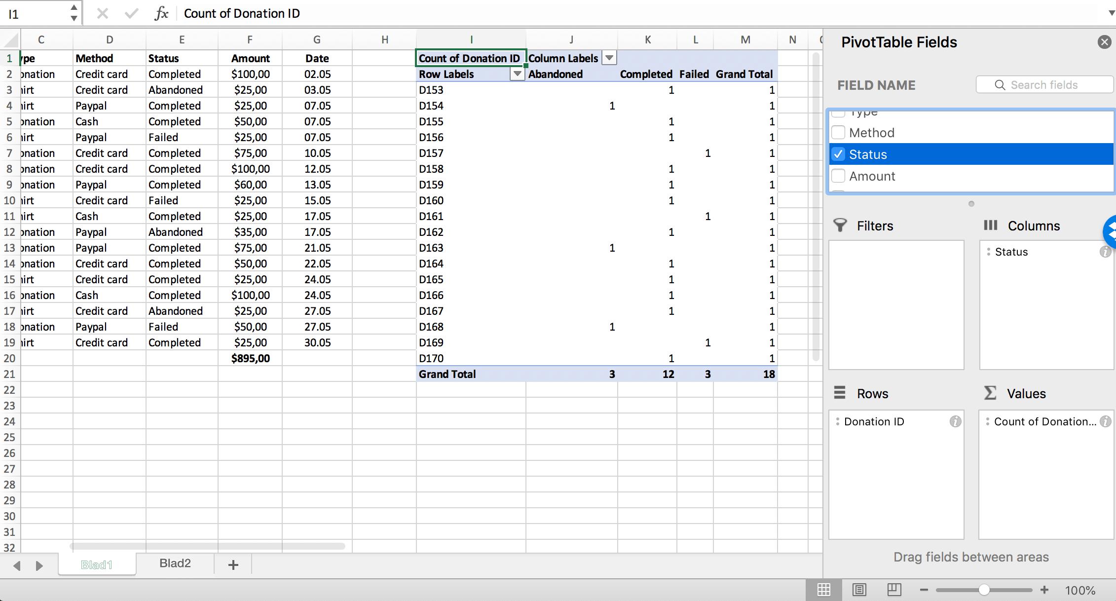Compile values of a Pivot Table column // PerfectXL
