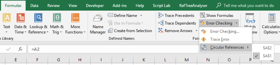 How to find a circular reference in your Excel file // Excel ribbon // PerfectXL
