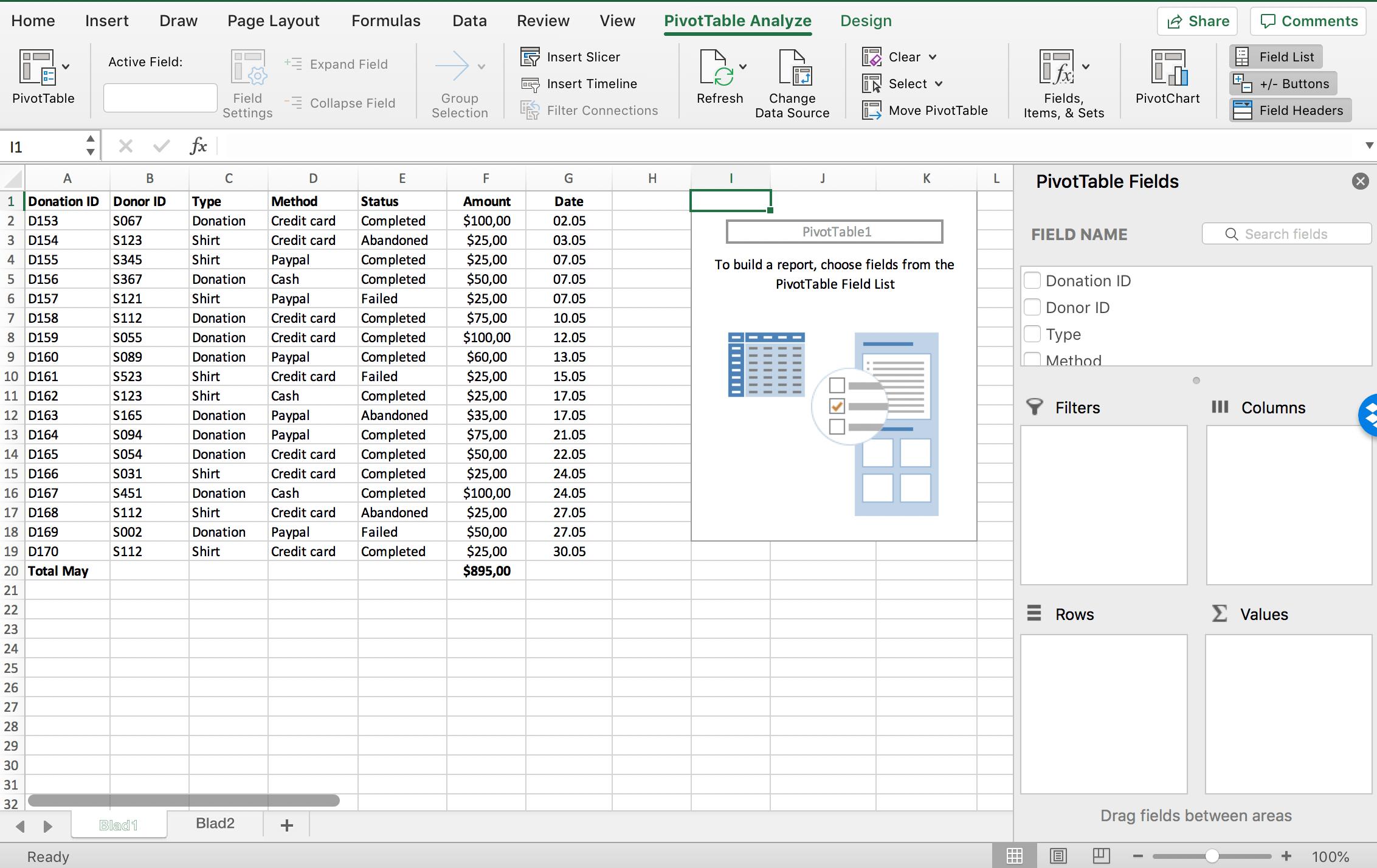 PivotTable fields in Excel // PerfectXL