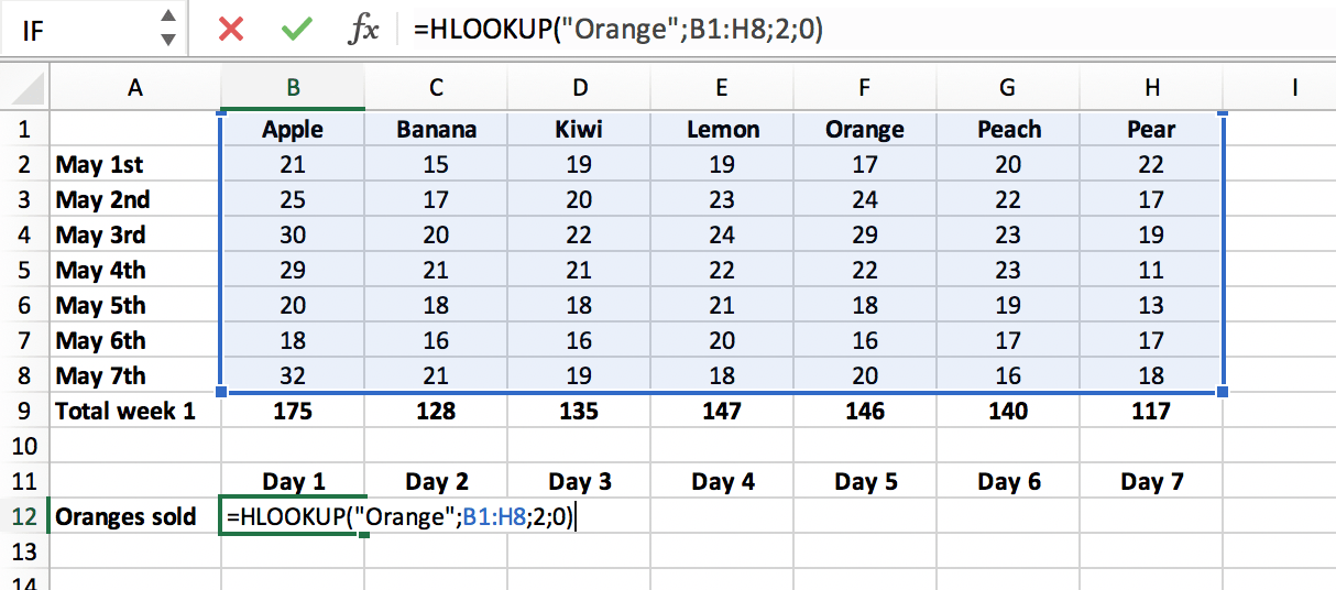 Exact match in HLOOKUP function in Excel file // PerfectXL