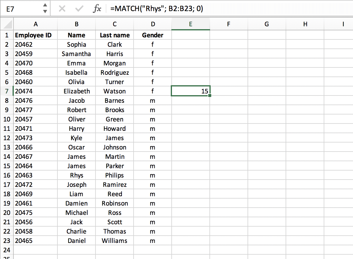 What is MATCH in Excel - Exact match // PerfectXL Spreadsheet Validation