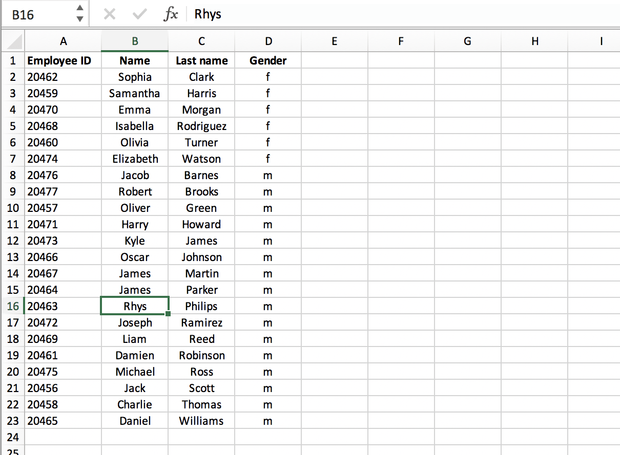 What is MATCH in Excel - List of employees // PerfectXL Spreadsheet Validation