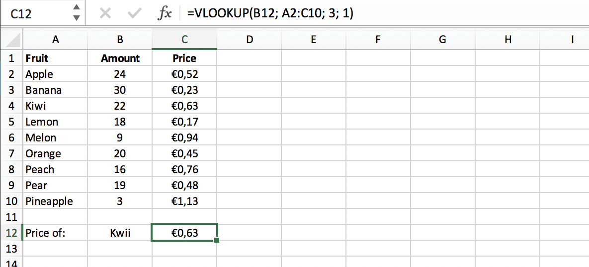 Approximate Match in a VLOOKUP function // PerfectXL