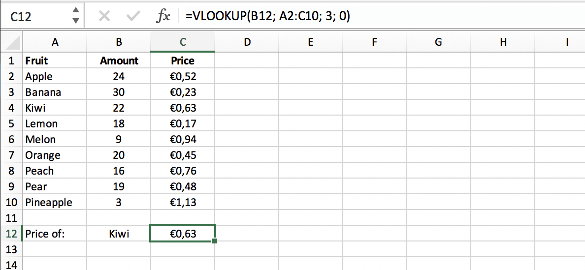 Result of an exact match in a VLOOKUP function in Excel // PerfectXL