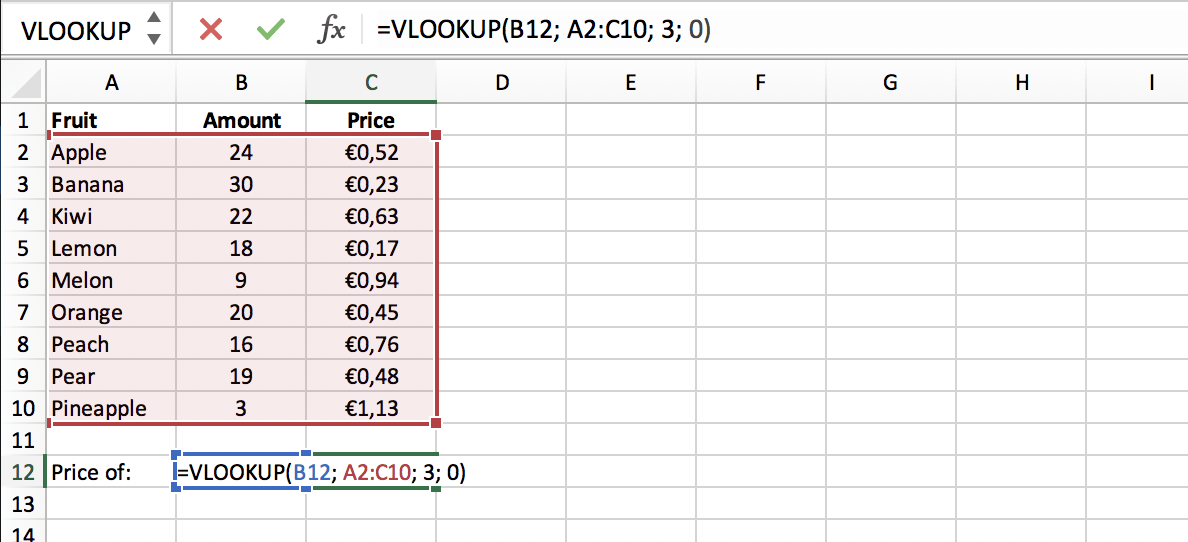 Exact match in a VLOOKUP function in Excel // PerfectXL