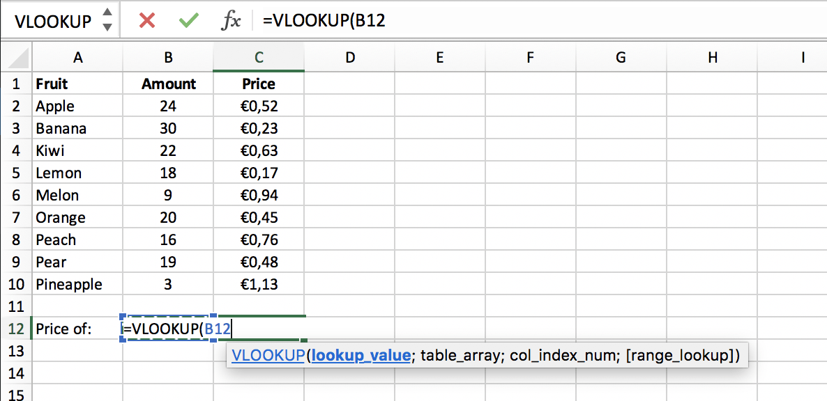 Lookup value in a VLOOKUP function in Excel // PerfectXL