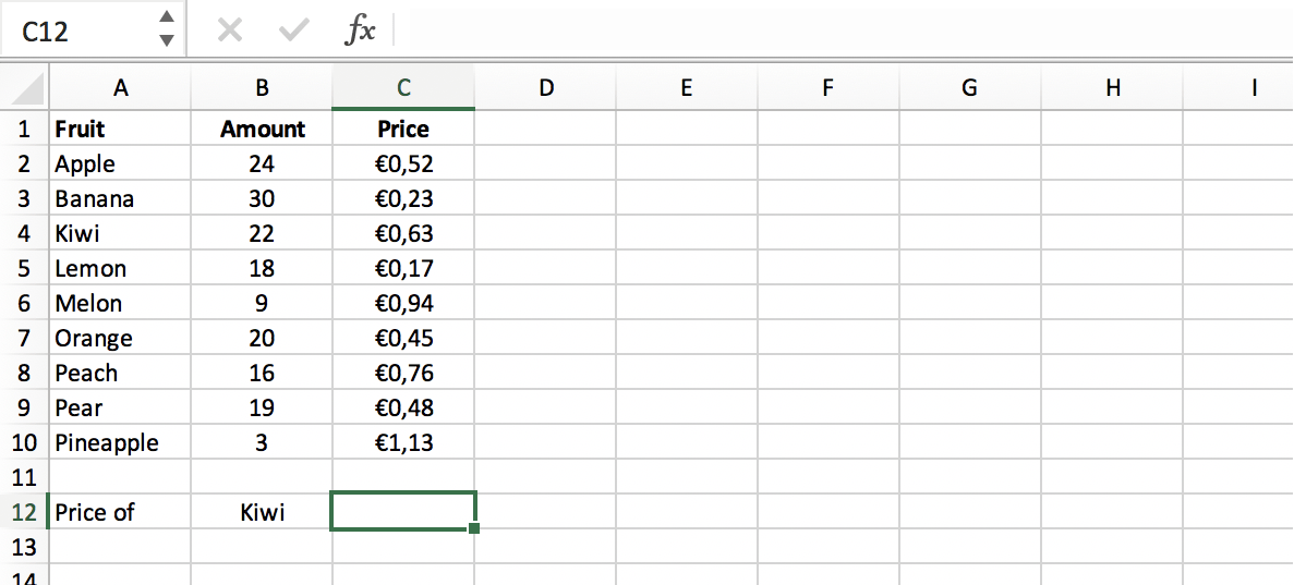 Initiate the VLOOKUP function in Excel // PerfectXL