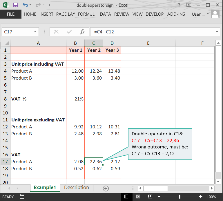Double Operator Sign // Calculation Doubts in Excel Files // PerfectXL Risk Eliminator