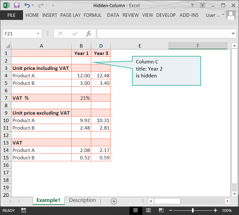 Hidden columns in Excel files // PerfectXL Risk Eliminator