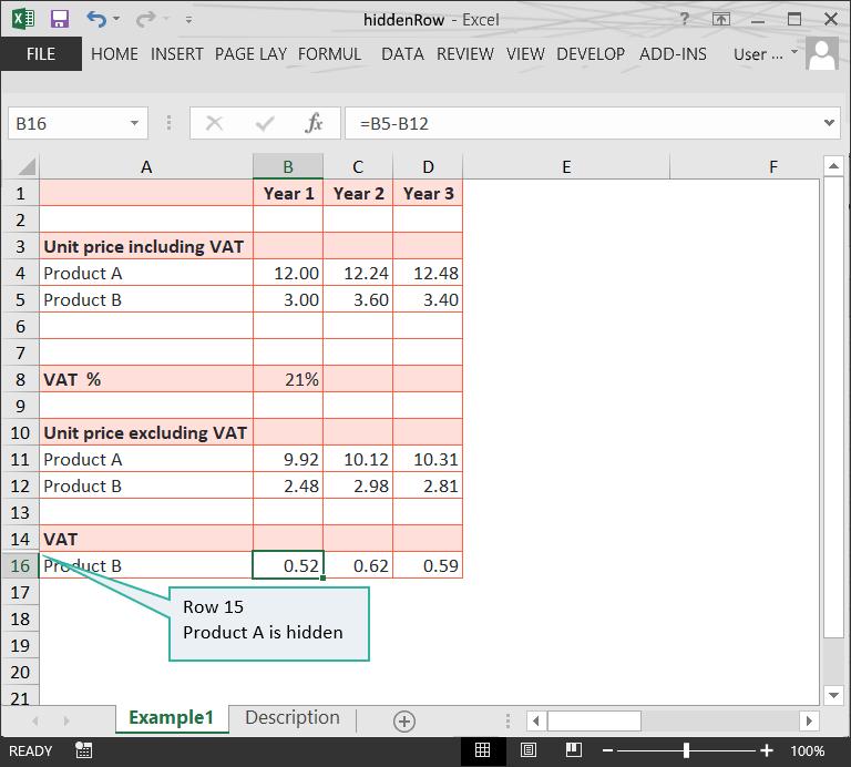 Hidden rows in Excel files // PerfectXL Risk Eliminator