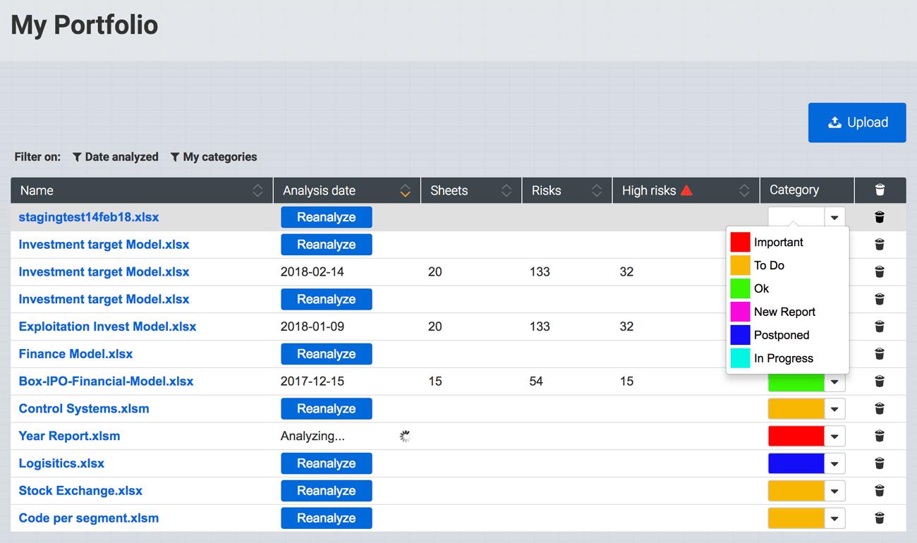 Portfolio Management Spreadsheets // PerfectXL Explore