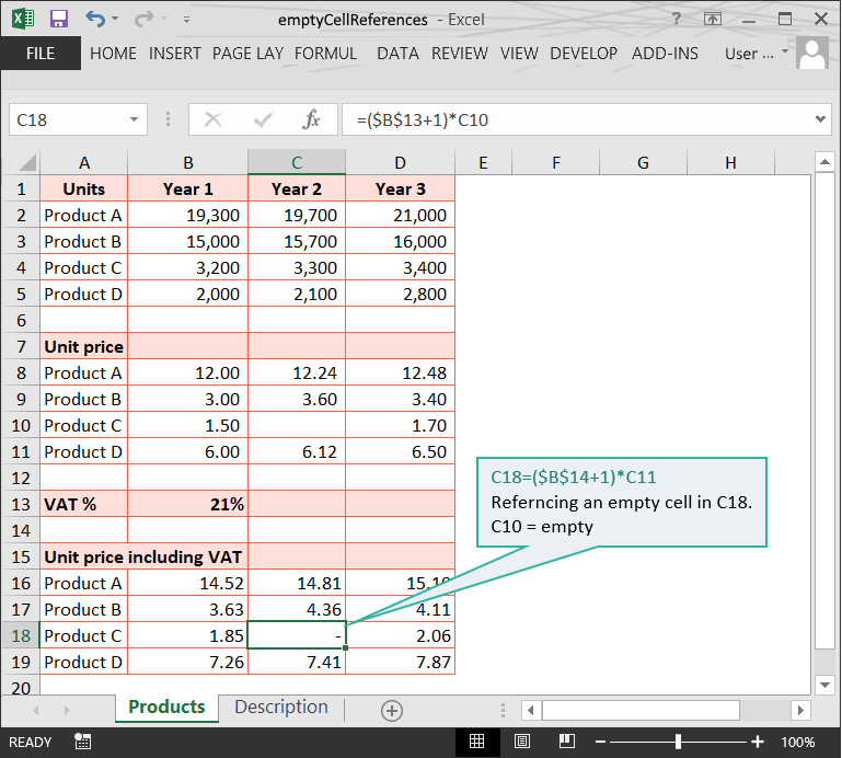 Range issues in Excel :: Empty cell references