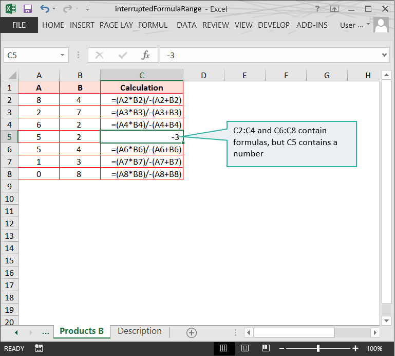 Interrupted formula range :: Range issues in Excel // Example