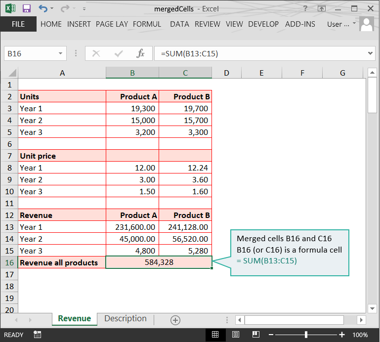 Range issues in Excel :: Merged cells