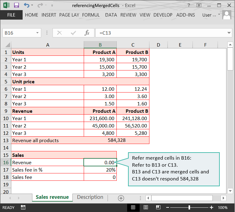Range issues in Excel :: Referencing to merged cells