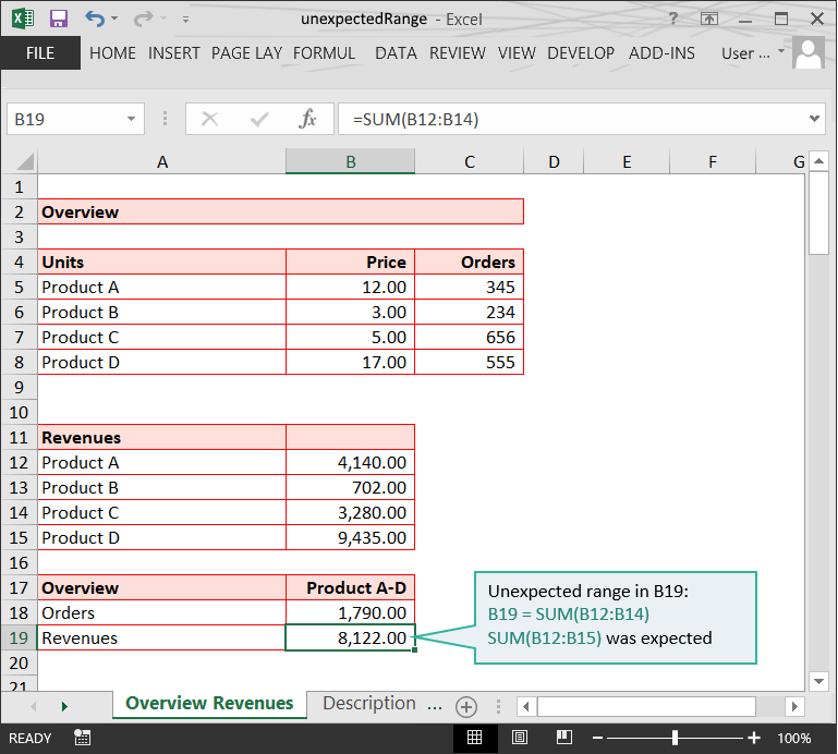 Range issues in Excel :: Unexpected ranges