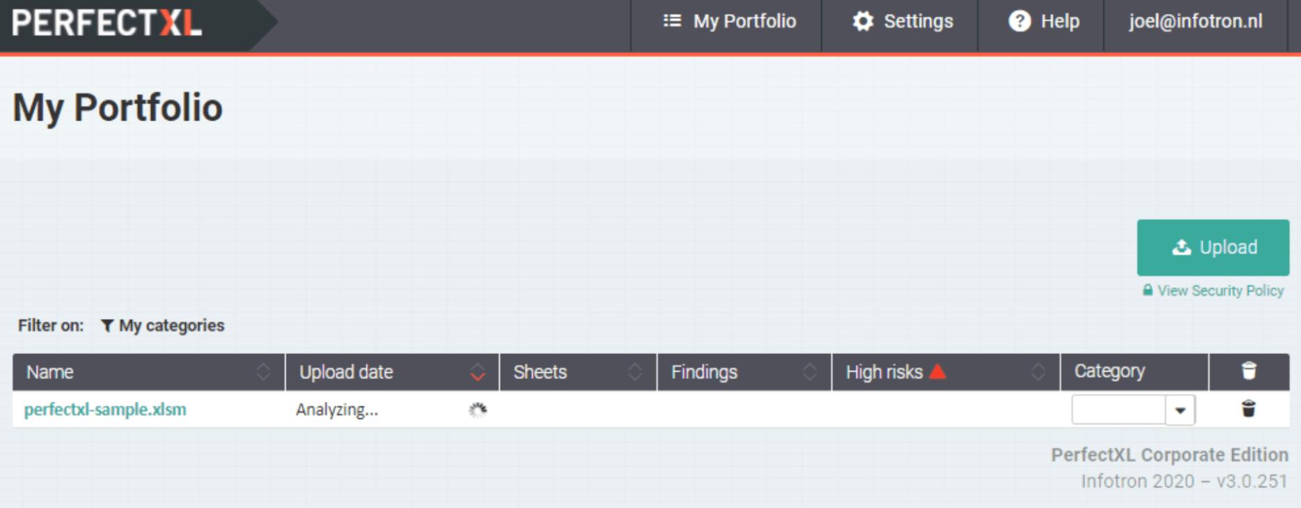 PerfectXL Risk Eliminator walkthrough // Spreadsheet portfolio