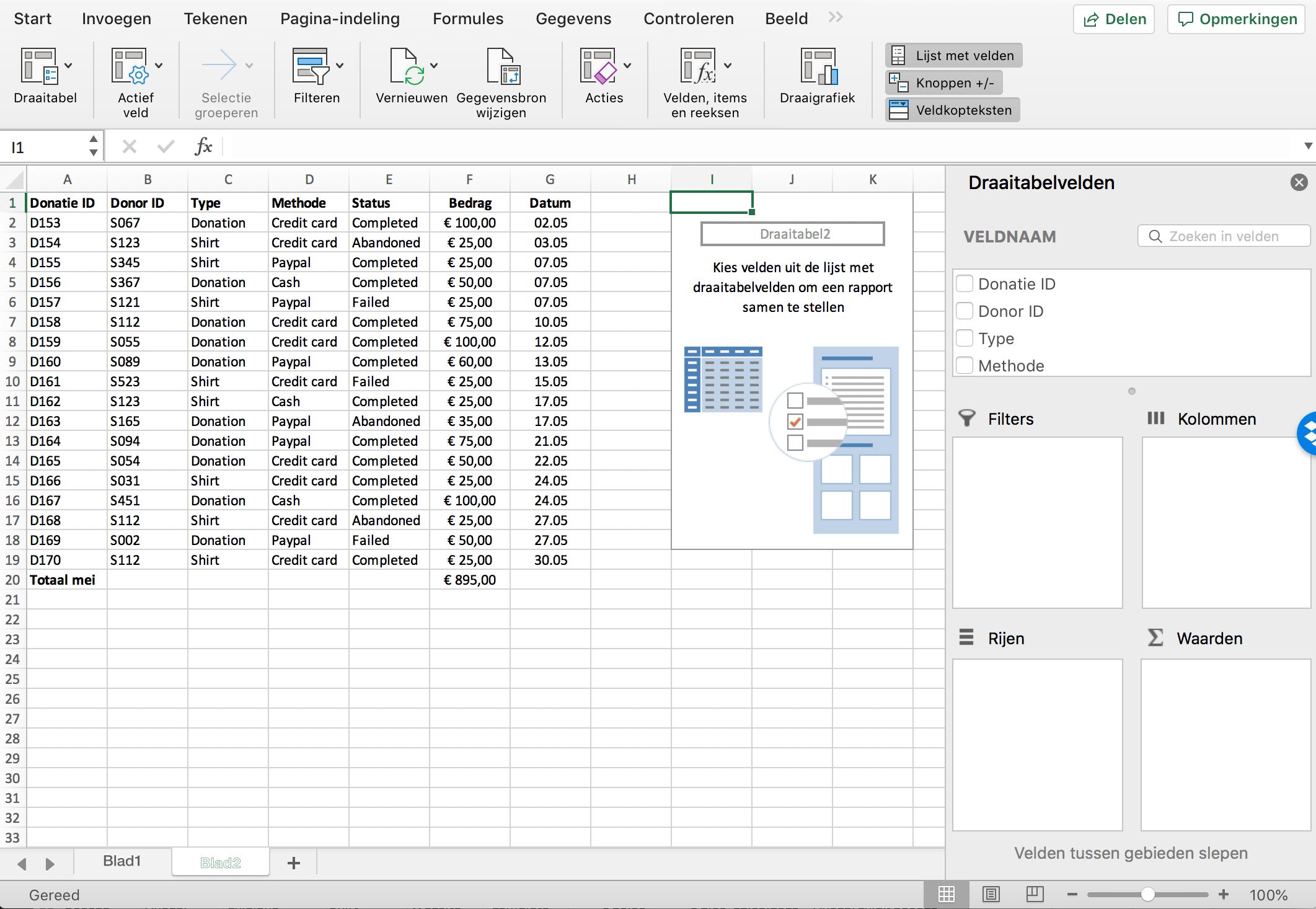 Draaitabel (pivot table) samenstellen // Verklarende Woordenlijst Excel // PerfectXL