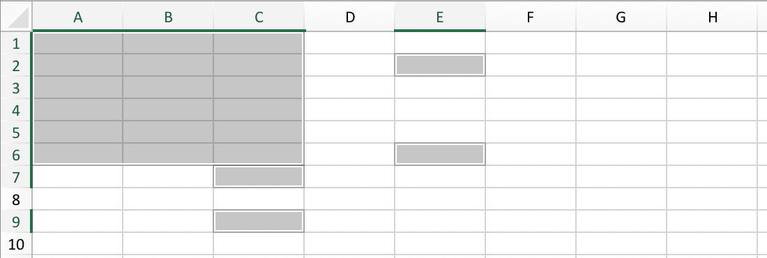 Onregelmatig celbereik (irregular cell range) in Excel // Verklarende Woordenlijst Excel // PerfectXL