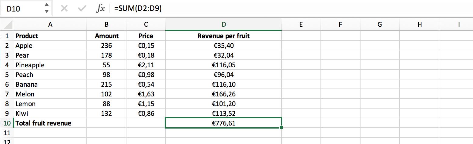Voorbeeld van een formule zonder array functie // Verklarende Woordenlijst Excel // PerfectXL