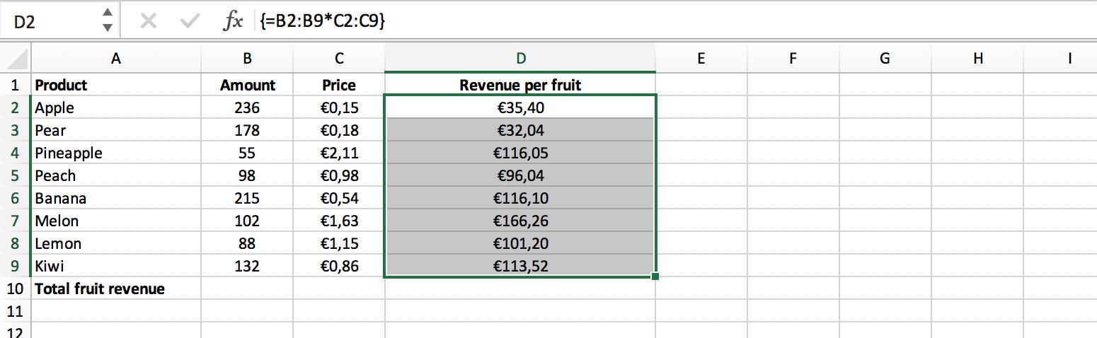 Multicel matrix formule voorbeeld // Verklarende Woordenlijst Excel // PerfectXL