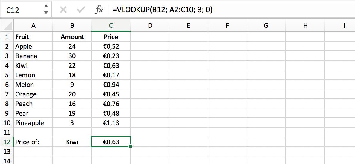 Resultaat Exacte Match VLOOKUP (VERT.ZOEKEN) functie // Verklarende Woordenlijst Excel // PerfectXL