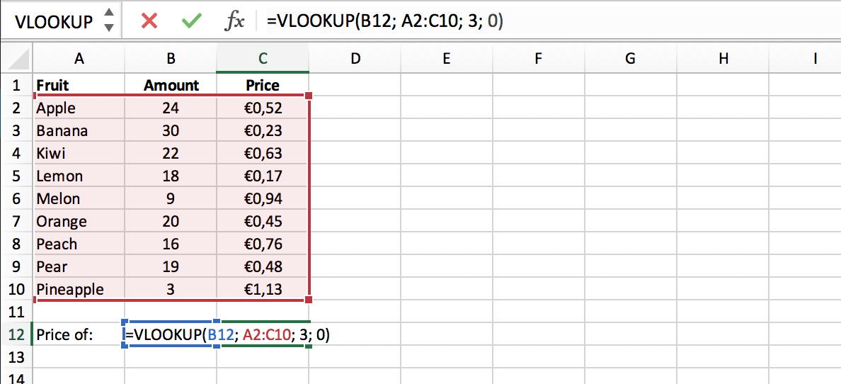 Notatie VERT.ZOEKEN (VLOOKUP) functie // Verklarende Woordenlijst Excel // PerfectXL
