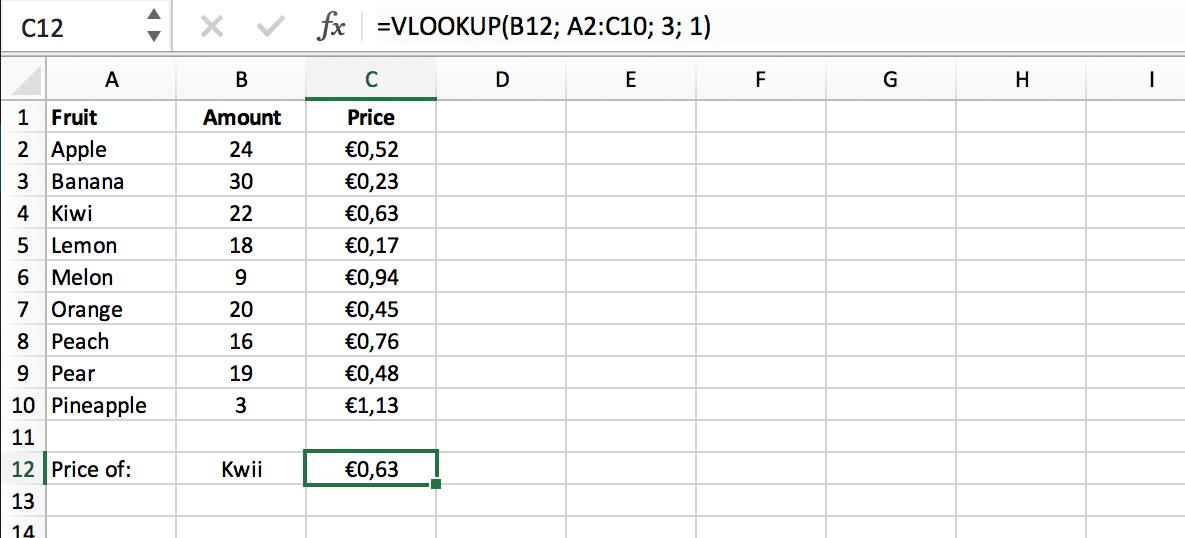 Resultaat niet-exacte match in VLOOKUP functie // Verklarende Woordenlijst Excel // PerfectXL