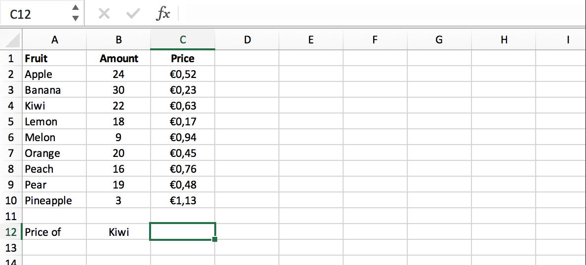 Selecteer een cel // VERT.ZOEKEN/VLOOKUP functie Excel // Verklarende Woordenlijst Excel // PerfectXL