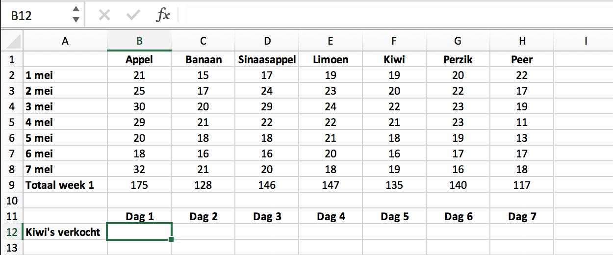 Wat is HORIZ.ZOEKEN (HLOOKUP) in Excel // Verklarende Woordenlijst Excel // PerfectXL