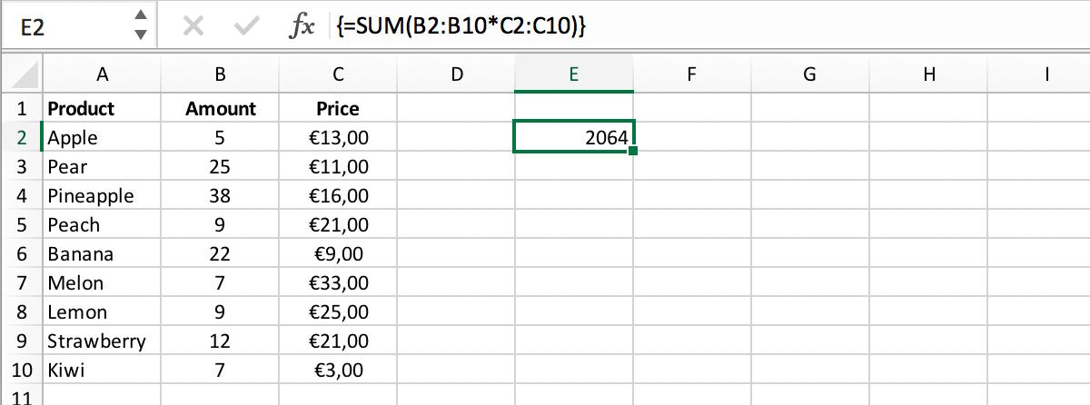 Array-formule - Voorbeeld // Array-formules zijn verleden tijd // PerfectXL Risk Eliminator